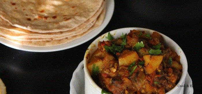 Алу Баинган: картофель и баклажан по-индийски