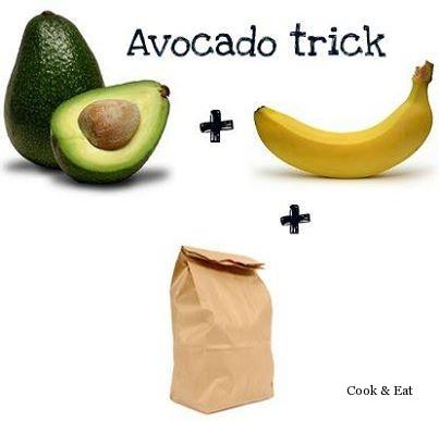 как сделать из зеленого авокадо спелый