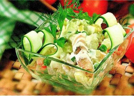 Картофельный салат с рыбой горячего копчения. Мамин салат!