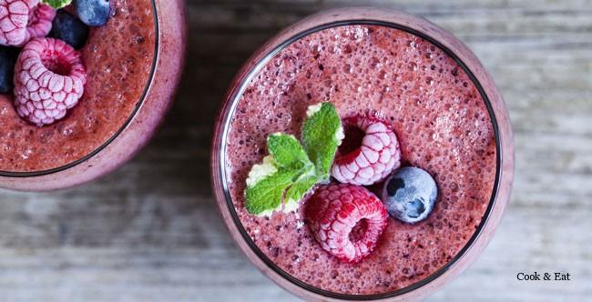 Соки smoothie из замороженных фруктов