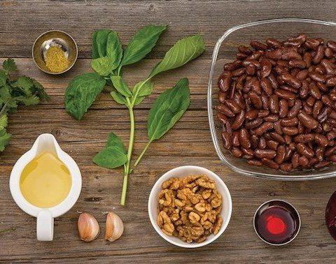 Ингредиенты для лобио по-грузински